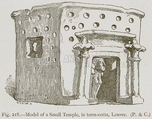 Model of a Small Temple, in Terra-Cotta, Louvre. Illustration for Historic Ornament by James Ward (Chapman and Hall, 1897).