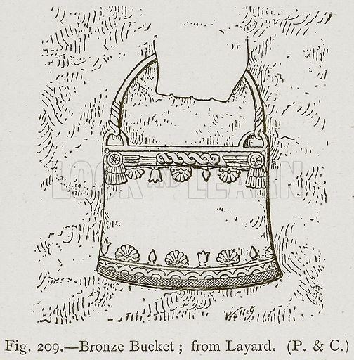 Bronze Bucket; from Layard. Illustration for Historic Ornament by James Ward (Chapman and Hall, 1897).