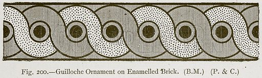 Guilloche Ornament on Enamelled Brick. Illustration for Historic Ornament by James Ward (Chapman and Hall, 1897).