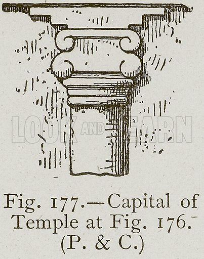 Capital of Temple. Illustration for Historic Ornament by James Ward (Chapman and Hall, 1897).