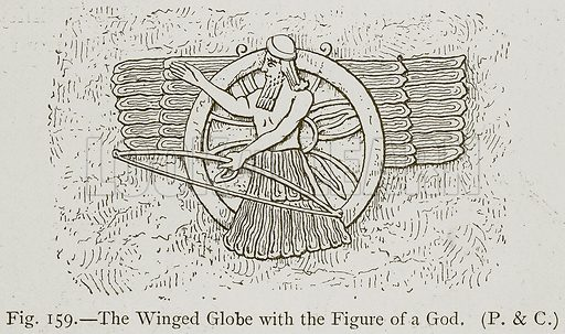 The Winged Globe with the Figure of a God. Illustration for Historic Ornament by James Ward (Chapman and Hall, 1897).
