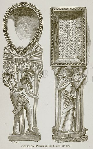 Perfume Spoons, Louvre. Illustration for Historic Ornament by James Ward (Chapman and Hall, 1897).