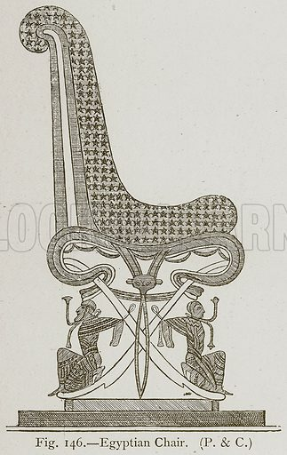 Egyptian Chair. Illustration for Historic Ornament by James Ward (Chapman and Hall, 1897).