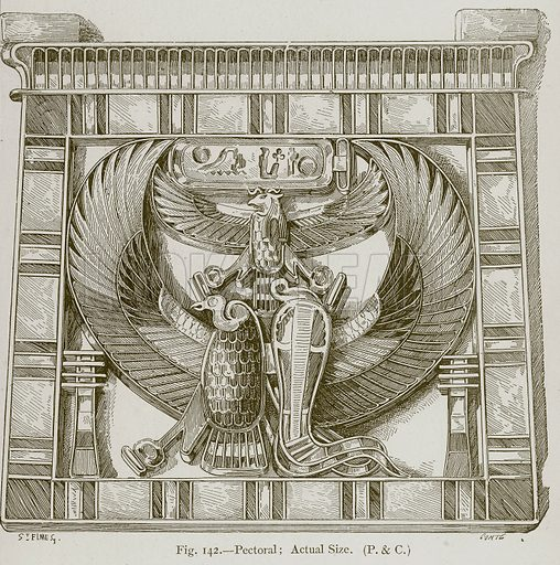 Pectoral; Actual Size. Illustration for Historic Ornament by James Ward (Chapman and Hall, 1897).