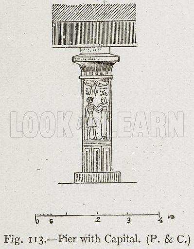 Pier with Capital. Illustration for Historic Ornament by James Ward (Chapman and Hall, 1897).