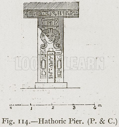 Hathoric Pier. Illustration for Historic Ornament by James Ward (Chapman and Hall, 1897).