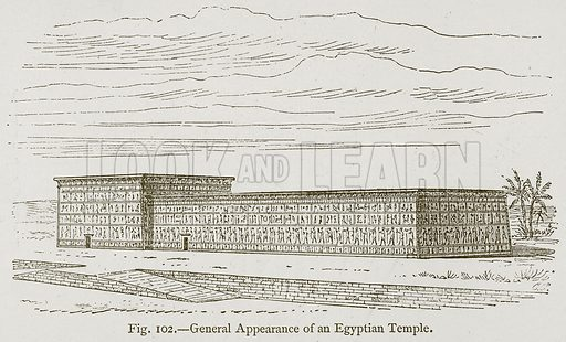 General Appearance of an Egyptian Temple. Illustration for Historic Ornament by James Ward (Chapman and Hall, 1897).