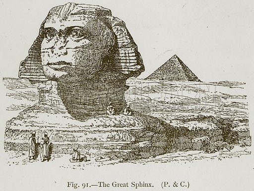 The Great Sphinx. Illustration for Historic Ornament by James Ward (Chapman and Hall, 1897).