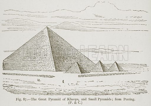 The Great Pyramid of Kheops, and Small Pyramids; from Perring. Illustration for Historic Ornament by James Ward (Chapman and Hall, 1897).
