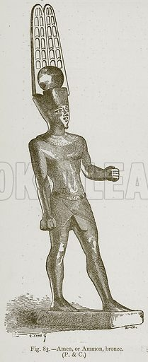 Amen, or Ammon, Bronze. Illustration for Historic Ornament by James Ward (Chapman and Hall, 1897).