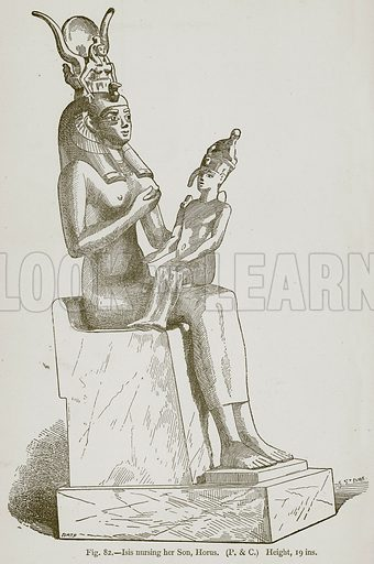 Isis Nursing her Son, Horus. Illustration for Historic Ornament by James Ward (Chapman and Hall, 1897).