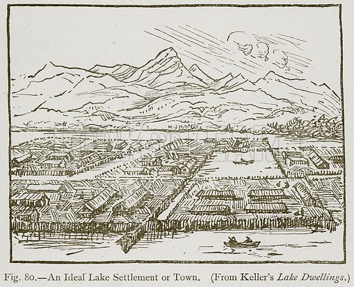 An Ideal Lake Settlement or Town. Illustration for Historic Ornament by James Ward (Chapman and Hall, 1897).