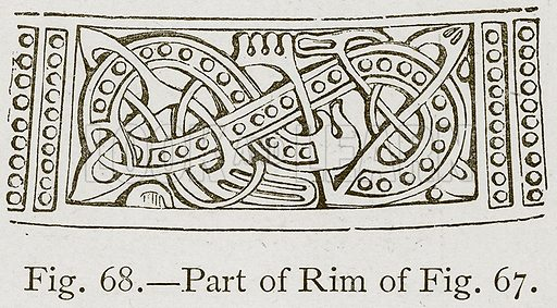 Part of Rim. Illustration for Historic Ornament by James Ward (Chapman and Hall, 1897).