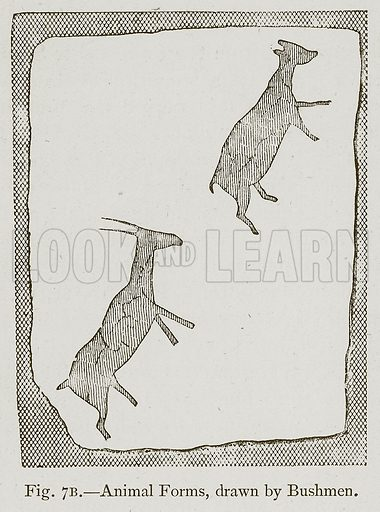 Animal Forms, drawn by Bushmen. Illustration for Historic Ornament by James Ward (Chapman and Hall, 1897).