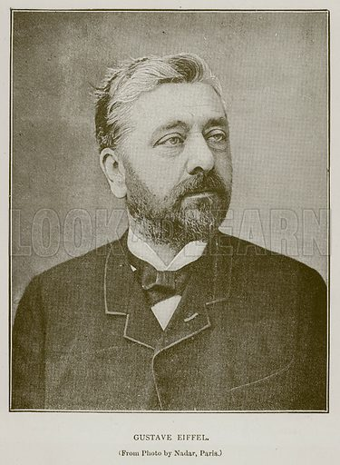 Gustave Eiffel. Illustration for Great Engineers by J F Layson (Walter Scott, c 1880).