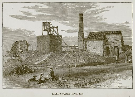 Killingworth High Pit. Illustration for Great Engineers by JF Layson (Walter Scott, c 1880).