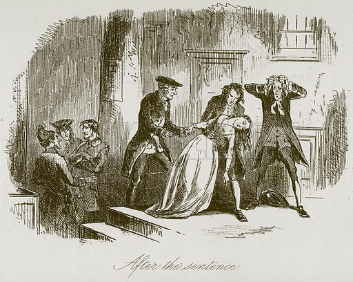 After the Sentence. Illustration for A Tale of Two Cities by Charles Dickens (Chapman & Hall, 1892).