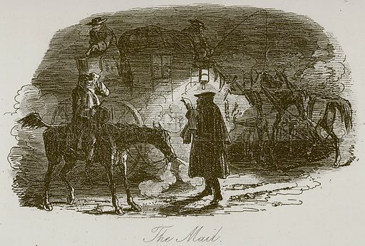 The Mail. Illustration for A Tale of Two Cities by Charles Dickens (Chapman & Hall, 1892).