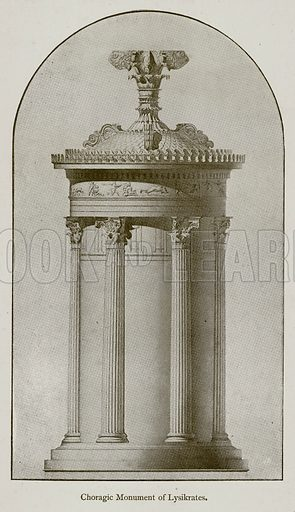 Choragic Monument of Lysikrates. Illustration for Historic Ornament by James Ward (Chapman and Hall, 1897).