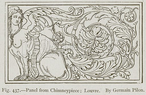 Panel from Chimneypiece; Louvre. By Germain Pilon. Illustration for Historic Ornament by James Ward (Chapman and Hall, 1897).