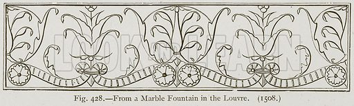 From a Marble Fountain in the Louvre. Illustration for Historic Ornament by James Ward (Chapman and Hall, 1897).
