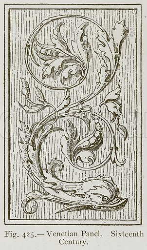 Venetian Panel. Sixteenth Century. Illustration for Historic Ornament by James Ward (Chapman and Hall, 1897).