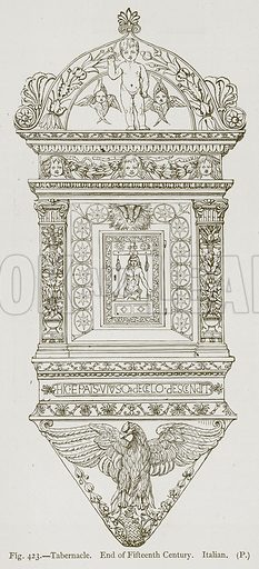 Tabernacle. End of Fifteenth Century. Italian. Illustration for Historic Ornament by James Ward (Chapman and Hall, 1897).