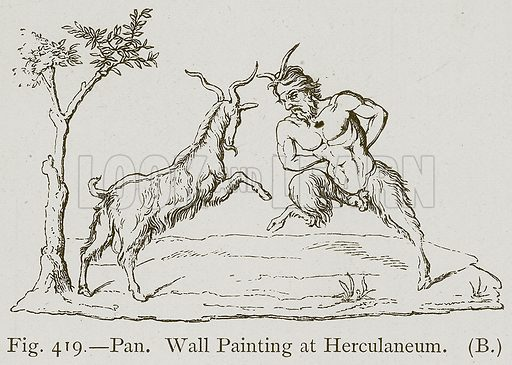 Pan. Wall Painting at Herculaneum. Illustration for Historic Ornament by James Ward (Chapman and Hall, 1897).