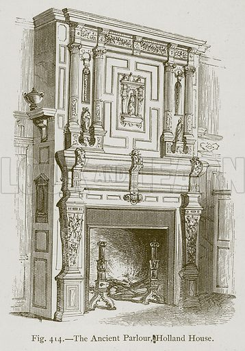 The Ancient Parlour, Holland House. Illustration for Historic Ornament by James Ward (Chapman and Hall, 1897).