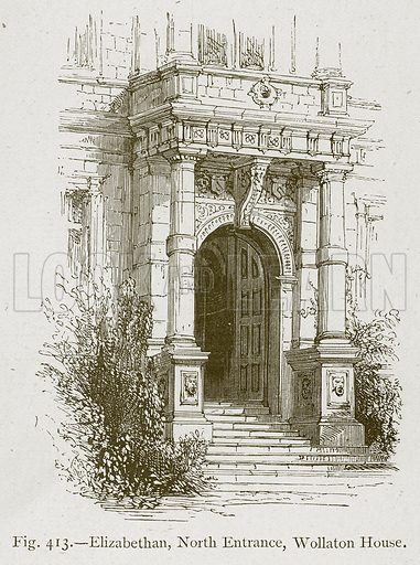 Elizabethan, North Entrance, Wollaton House. Illustration for Historic Ornament by James Ward (Chapman and Hall, 1897).