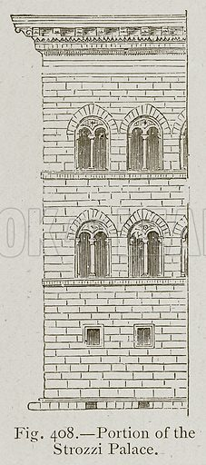 Portion of the Strozzi Palace. Illustration for Historic Ornament by James Ward (Chapman and Hall, 1897).