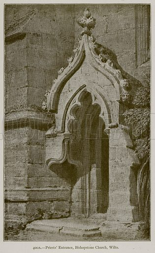 Priests' Entrance, Bishopstone Church, Wilts. Illustration for Historic Ornament by James Ward (Chapman and Hall, 1897).