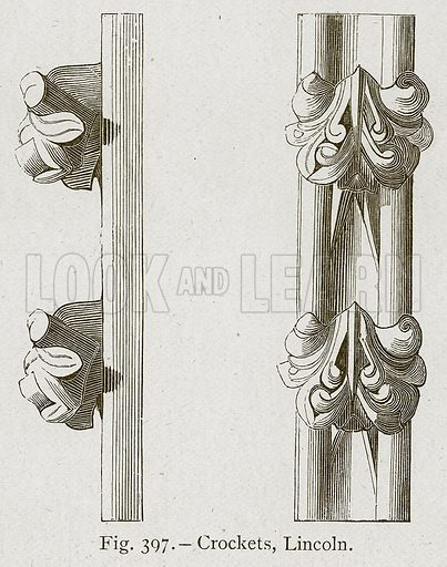 Crockets, Lincoln. Illustration for Historic Ornament by James Ward (Chapman and Hall, 1897).