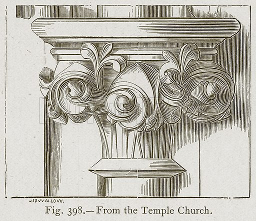 From the Temple Church. Illustration for Historic Ornament by James Ward (Chapman and Hall, 1897).