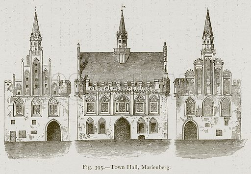 Town Hall, Marienberg. Illustration for Historic Ornament by James Ward (Chapman and Hall, 1897).