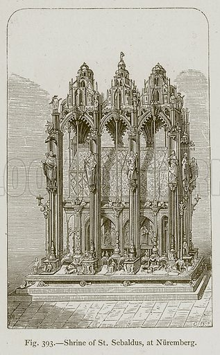 Shrine of St. Sebaldus, at Nuremberg. Illustration for Historic Ornament by James Ward (Chapman and Hall, 1897).