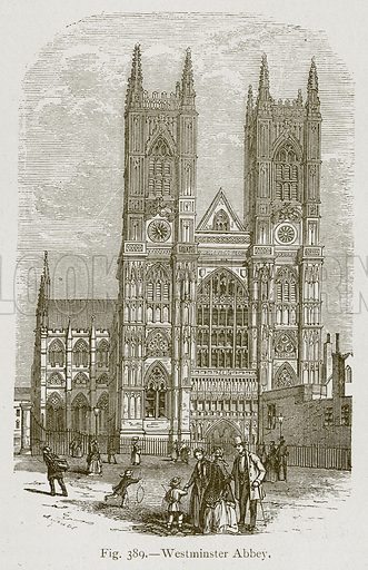 Westminster Abbey. Illustration for Historic Ornament by James Ward (Chapman and Hall, 1897).