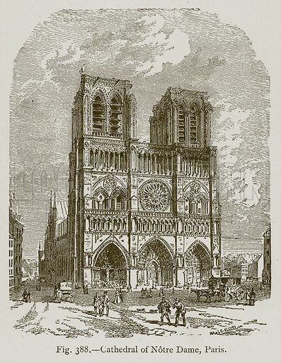 Cathedral of Notre Dame, Paris. Illustration for Historic Ornament by James Ward (Chapman and Hall, 1897).