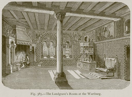 The Landgrave's Room at the Wartburg. Illustration for Historic Ornament by James Ward (Chapman and Hall, 1897).