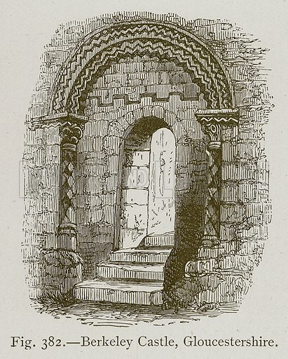 Berkeley Castle, Gloucestershire. Illustration for Historic Ornament by James Ward (Chapman and Hall, 1897).