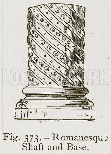 Romanesque Shaft and Base. Illustration for Historic Ornament by James Ward (Chapman and Hall, 1897).