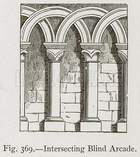 Intersecting Blind Arcade. Illustration for Historic Ornament by James Ward (Chapman and Hall, 1897).