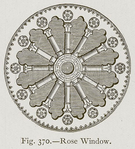 Rose Window. Illustration for Historic Ornament by James Ward (Chapman and Hall, 1897).
