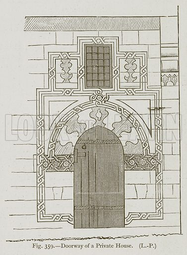Doorway of a Private House. Illustration for Historic Ornament by James Ward (Chapman and Hall, 1897).