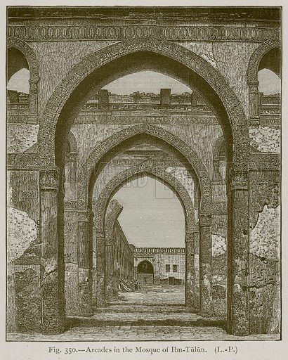 Arcades in the Mosque of Ibn-Tulun. Illustration for Historic Ornament by James Ward (Chapman and Hall, 1897).