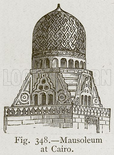 Mausoleum at Cairo. Illustration for Historic Ornament by James Ward (Chapman and Hall, 1897).