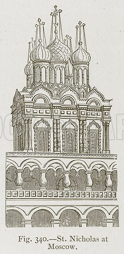 St. Nicholas at Moscow. Illustration for Historic Ornament by James Ward (Chapman and Hall, 1897).