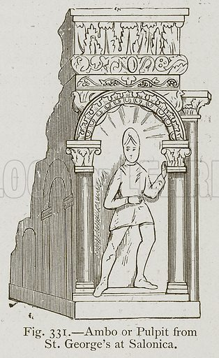 Ambo or Pulpit from St George's at Salonica. Illustration for Historic Ornament by James Ward (Chapman and Hall, 1897).