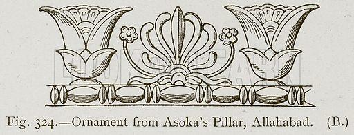 Ornament from Asoka's Pillar, allahabad. Illustration for Historic Ornament by James Ward (Chapman and Hall, 1897).