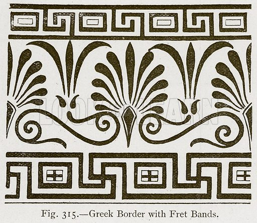 Greek Border with Fret Bands. Illustration for Historic Ornament by James Ward (Chapman and Hall, 1897).
